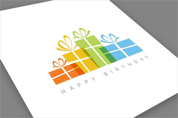 Minimalistic Happy Birthday Card Template
