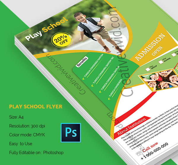Best Play School Flyer Template