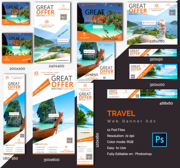 Best Travel Web Banners