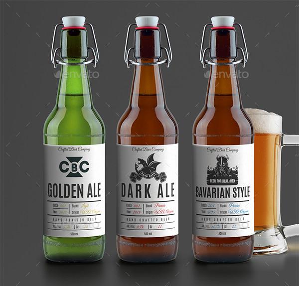 Modern Beer Label Template