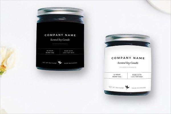 Modern Bottle Label Photoshop Templates