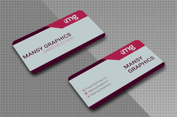 Modern Free Business Cards PSD