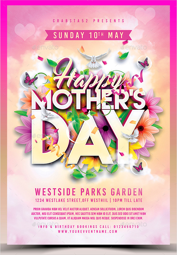 25 mother s day flyer templates free psd ai eps format download
