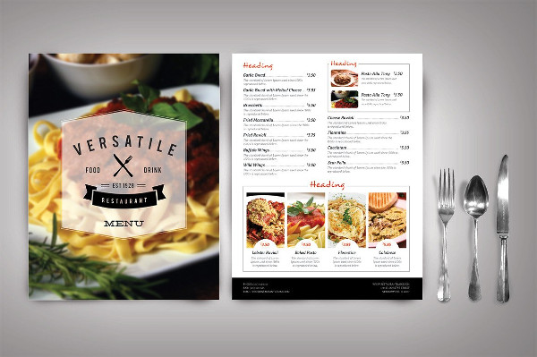 Modern Restaurant Menu Templates