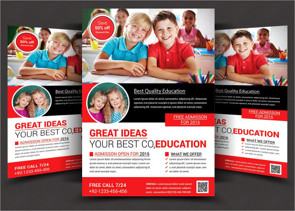 Modern School Flyer Template