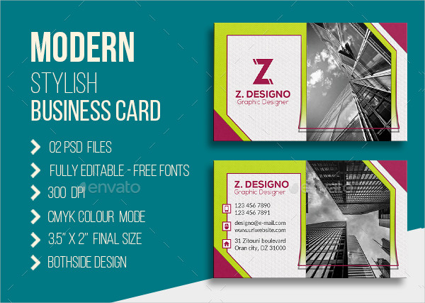 Modern Stylish Corporate Business Card