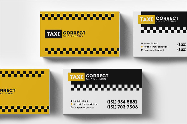 Modern Taxi Services Business Card