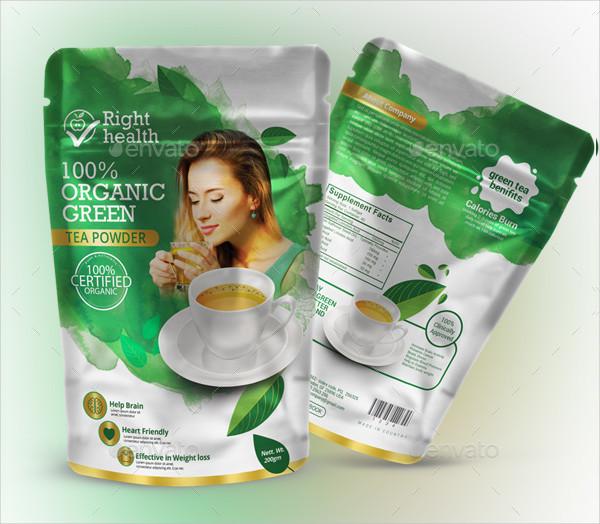 Modern Tea Packaging Template