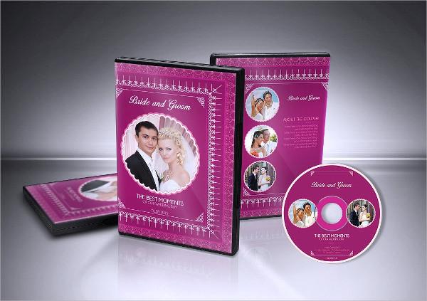 Modern Wedding DVD Cover & CD Label Template