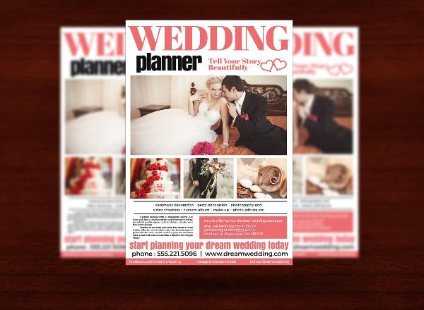 Modern Wedding Planner Flyer Template