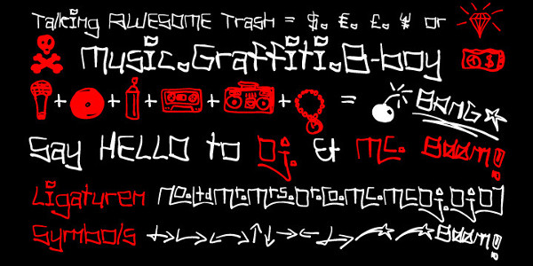 Music Note Letters Font