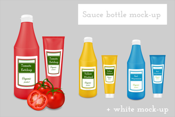 PSD Sauce Packaging Mockup