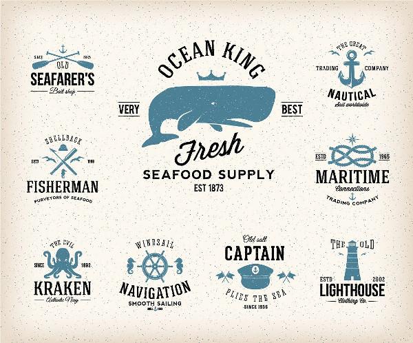 Nautical Vintage Labels Set