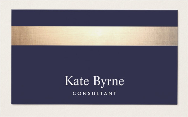 Stylish Navy Blue Business Card