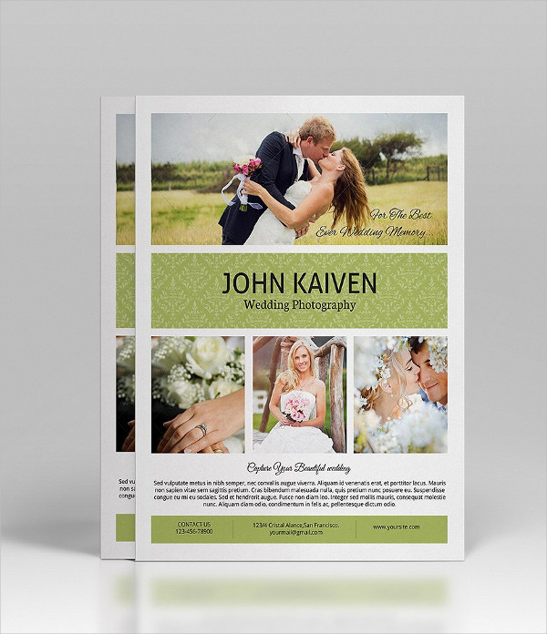 Printable Wedding Photography Flyer Template