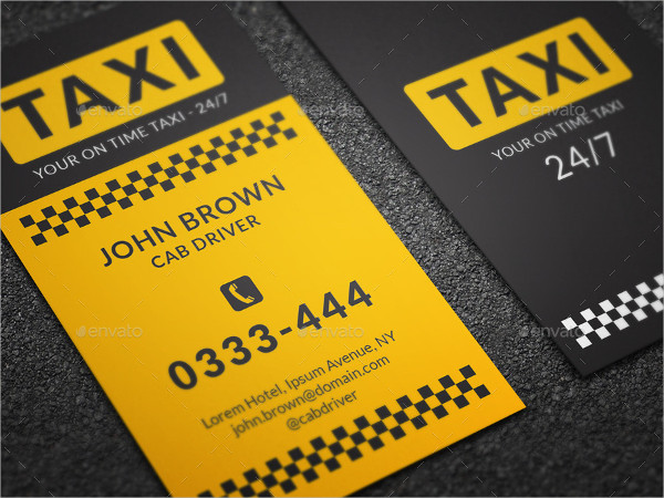 Night Club Taxi Business Card Template