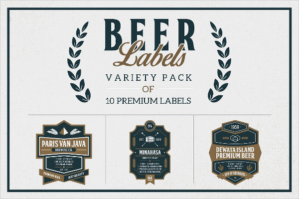 Old Beer Labels Variety Pack