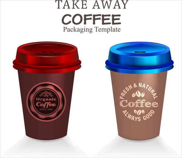 Coffee Packaging Template Vector Free