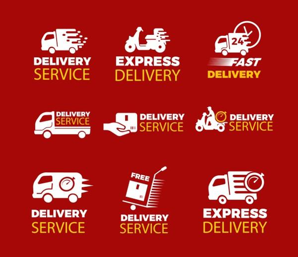 Original Set of Delivery Labels Free Download