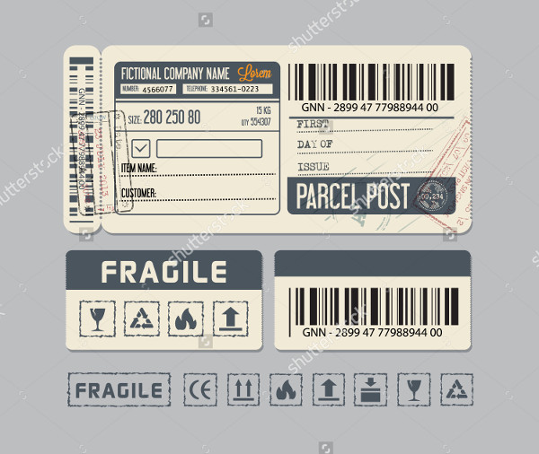 Packing Labels and Stickers Vector