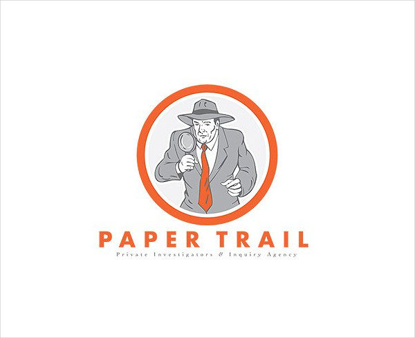 Paper Trail Investigator Logo Template
