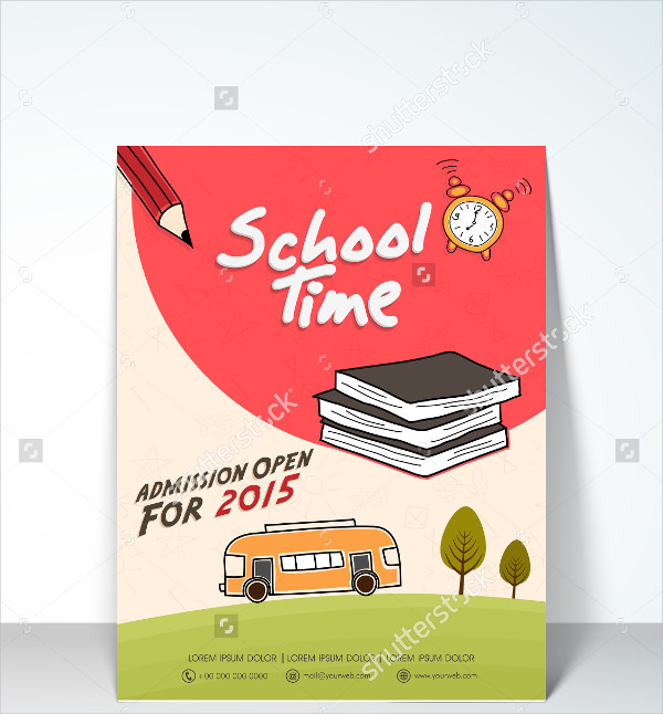 Stylish School Time Flyer Template