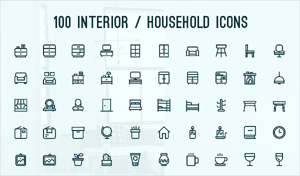 Perfect Household or Interior Icons