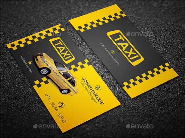 Stylish Taxi Driver Business Card Template