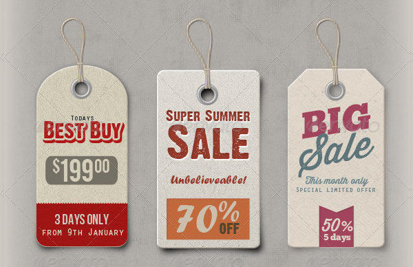 Photoshop Price Tag Templates