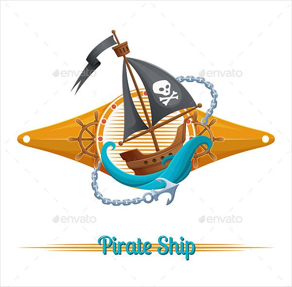 Pirate Ship Label Template