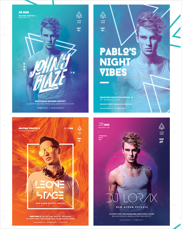 Popular DJ Flyers Bundle