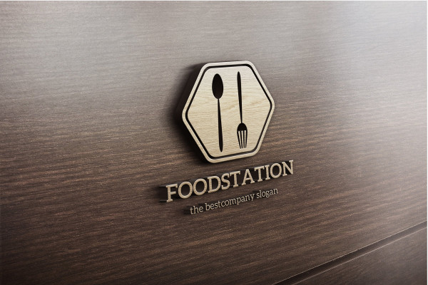 Popular Food Station Logo Template