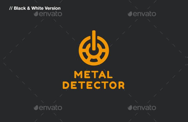 Popular Metal Detector Logo Template