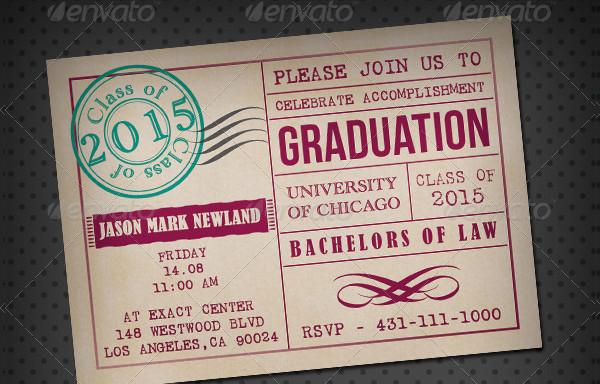 Print Ready Graduation Invitation Card Template