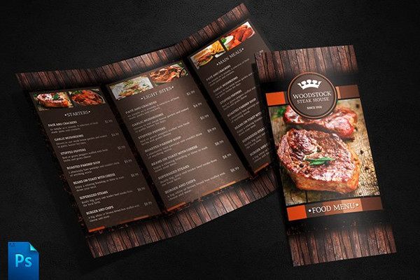 Print Ready Menu Template for Cafe