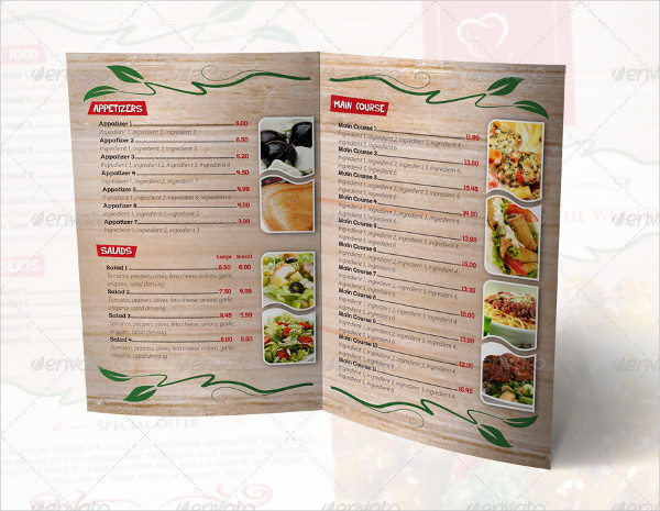 Print Ready Restaurant Menu Template