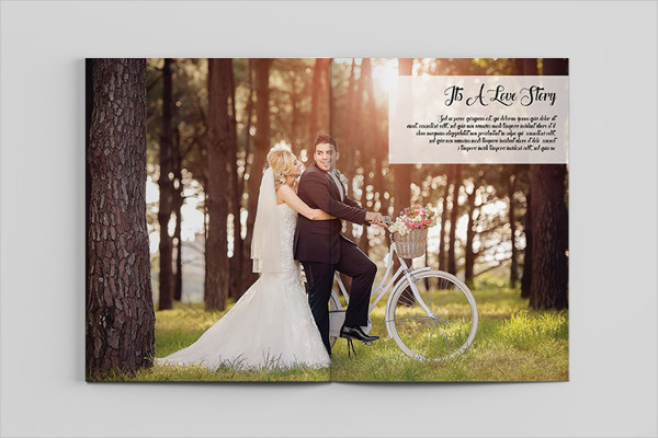 Print Ready Wedding Magazine Template