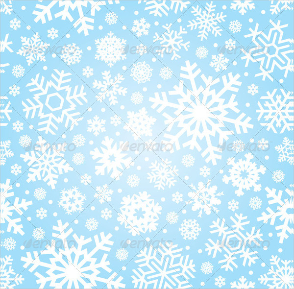 Perfect Seamless Snowflakes Pattern Vector