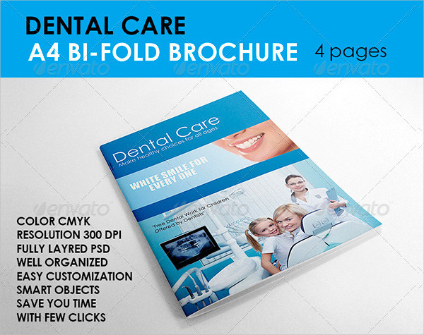 Printable Dental Care Brochure Template