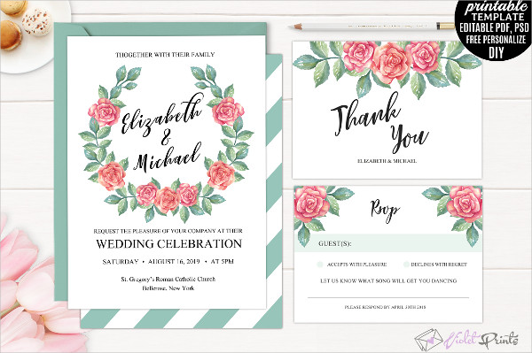 Printable Tri-Fold Invitation Template
