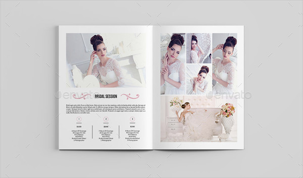 Printable Wedding Studio Magazine Template