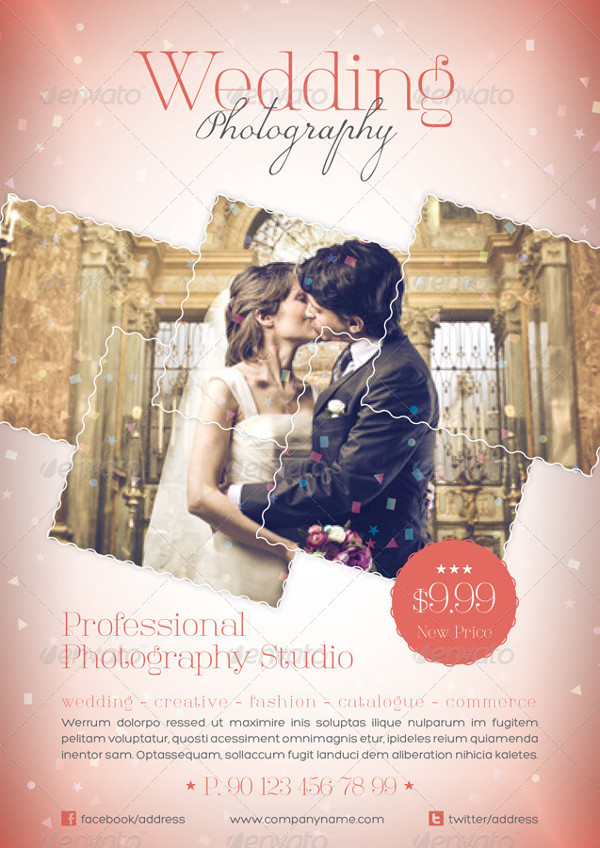 Professional Photography Studio Flyer for Wedding