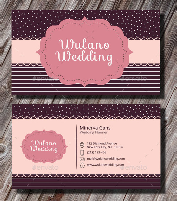 professional wedding planner business card - Wedding Planner Business Cards