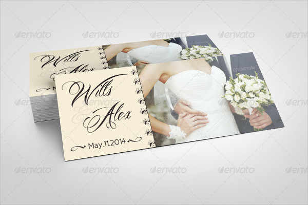 Professional Wedding Rack Card Template