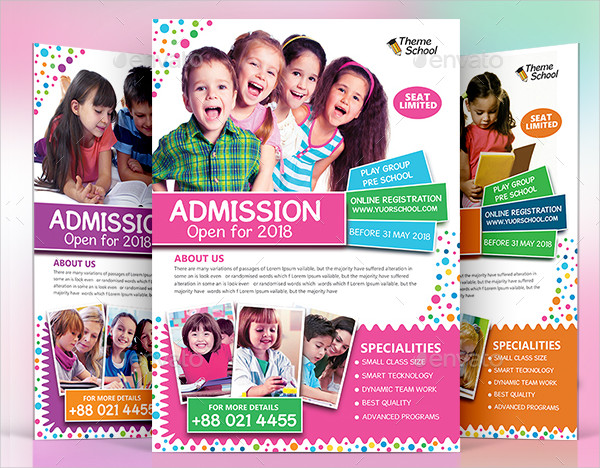 Unique School Promotion Flyer Template