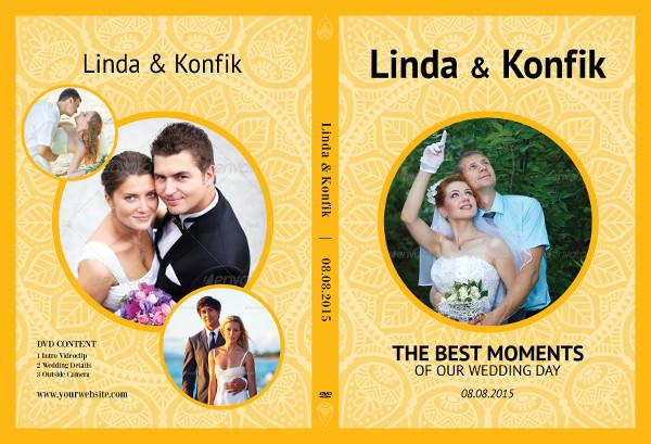 Customizable Wedding DVD Cover Templates
