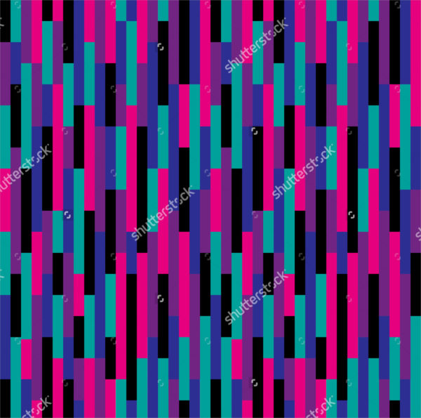 Retro Purple and Pink Stripes Pattern