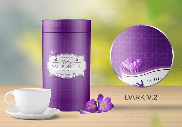 Ready to Print Saffron Tea Packaging