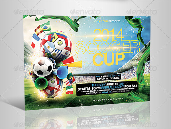 PSD Football Cup Flyer Template