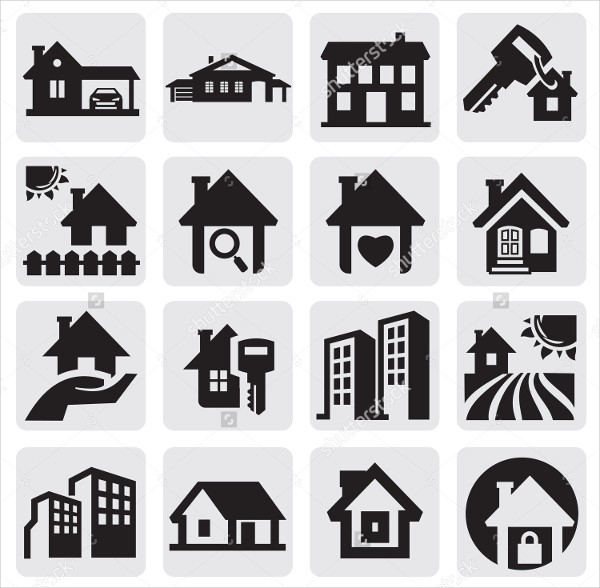 Real Estate Home Icons Set